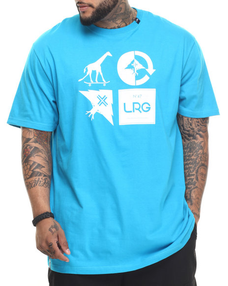 LRG - Men Blue Rc Logo Mash Up T-Shirt (B & T)