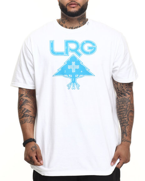 Lrg - Men White Palm Grove Icon T-Shirt (B&T)