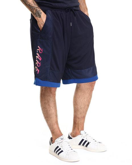 Ur-ID 219182 Pink Dolphin - Men Navy Rare Gradient Mesh Shorts