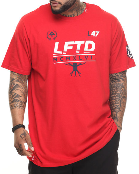 LRG - Men Red Pennant T-Shirt (B & T)
