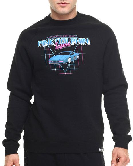 Ur-ID 219211 Pink Dolphin - Men Black Testa Rossa Crewneck Sweatshirt