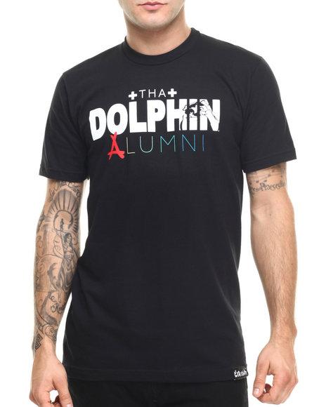 Ur-ID 219169 Pink Dolphin - Men Black Pink Dolphin X Alumni Tha Dolphin Alumni S/S Tee