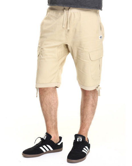Akademiks - Men Khaki Switch Cargo Shorts