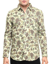 Button-downs - Duck Camo L/S Woven
