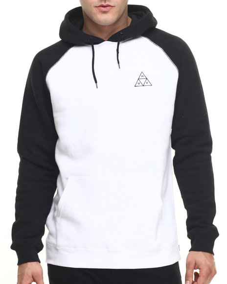 Huf - Men Black,White Triple Triangle Raglan Pullover Hoodie