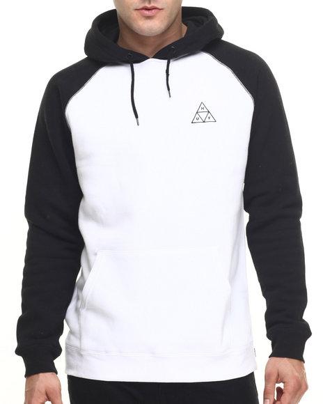 Ur-ID 219217 HUF - Men Black,White Triple Triangle Raglan Pullover Hoodie