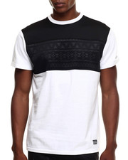 Men - Aztec Perf Faux leather trim s/s tee