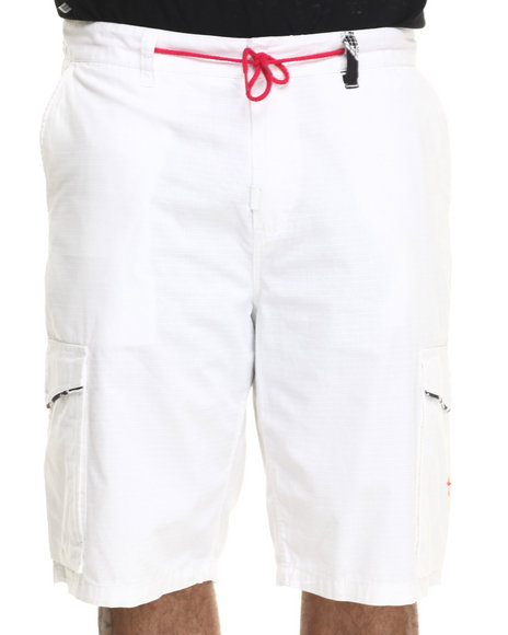 Lrg - Men White Gaviotas Cargo Short (B&T)