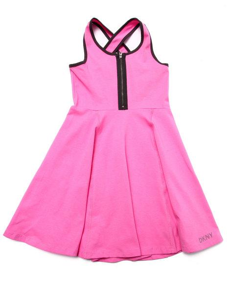 Dkny Jeans - Girls Pink Prism Knit Dress (7-16)