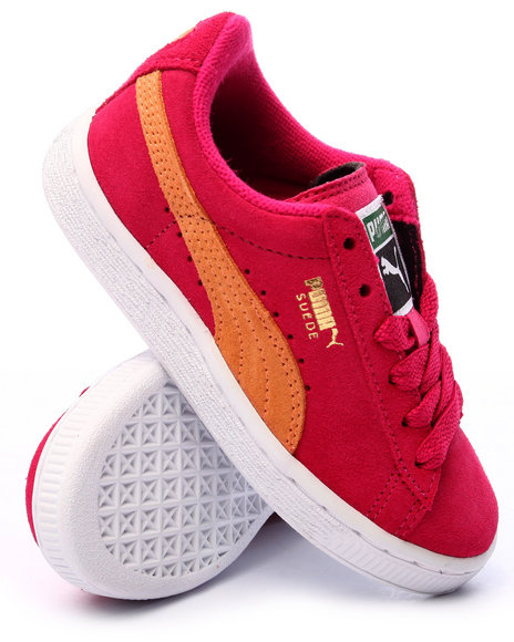 Puma - Girls Pink Suede Jr Sneakers (11-6) - $52.00