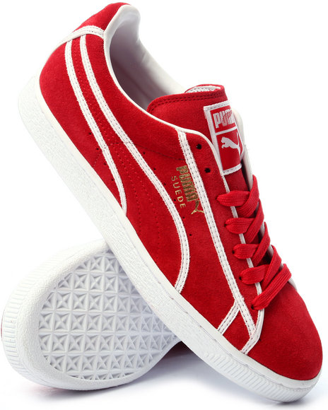 Ur-ID 219262 Puma - Men Red Suede Courtside Binding Lo