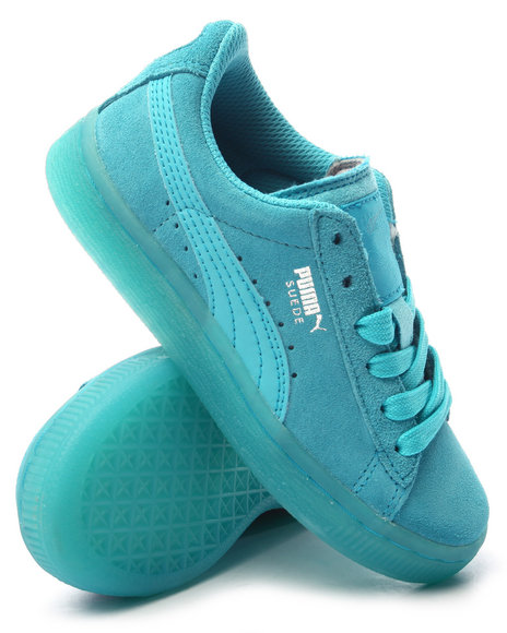 Puma - Boys Blue Suede Classic Iced Jr Sneakers (11-6) - $52.00