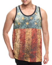 Akademiks - Whisper vintage flag tank top