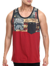 Shirts - Crush 4 color cut & sewn tank top