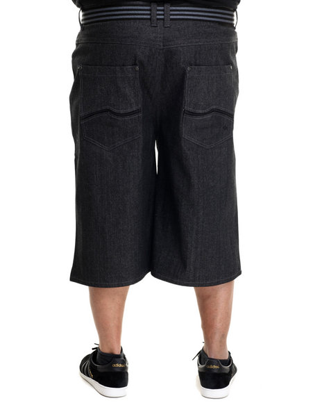 Enyce - Men Black New Tradition Raw Belted Shorts (B&T)