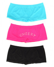 DRJ Lingerie Shoppe - Cheeky 3Pk Seamless Shorts (Plus)