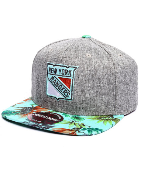 Ur-ID 223277 American Needle - Men Multi New York Rangers Night Bright Strapback Hat