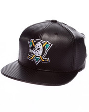American Needle - Anaheim Ducks Delirious faux perf leather snapback hat