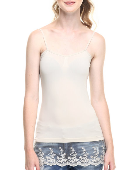 Ur-ID 219329 Fashion Lab - Women Beige Bust Cami W/ Embroidered Lace Peek Out