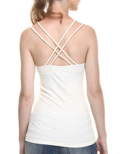 Fashion Lab - Egg White Criss Cross Multi Strap Cami