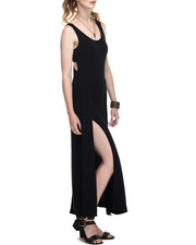 Fashion Lab - Open Criss Cross Back Detail w/ Front High Slits Dress