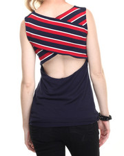 Women - Criss Cross Opened Back Tank Top