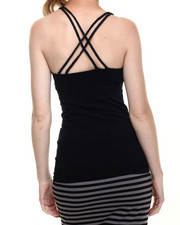 Fashion Lab - Seamless Criss Cross Multi Strap Cami
