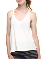 Fashion Lab - Marble Heathered Double V-Neck