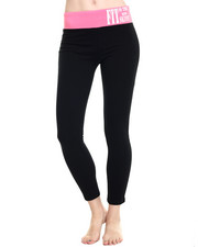 Women - Leggings w/ Color Block Waist