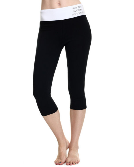 Ur-ID 219322 Fashion Lab - Women Black Athletic Yoga Capri
