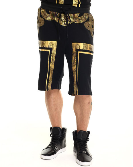 Hudson Nyc - Men Black Warriors Drawstring Shorts