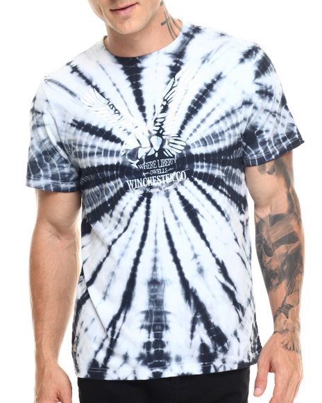 Ur-ID 219359 Winchester - Men Navy Ford Tie-Dye  Eagle S/S Tee