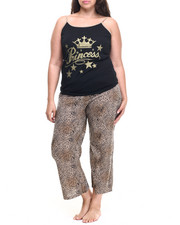 Women - Wild Princess Animal Capri Set (Plus)