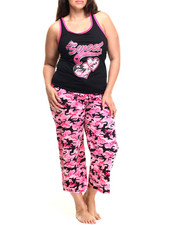 Women - Love Camo Capri PJ Set (Plus)