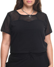 Tees - Mesh Yoke Active Top (Plus)
