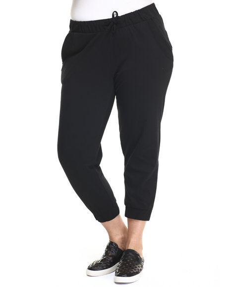 Ur-ID 219389 Baby Phat - Women Black Active Capri Jogger (Plus)