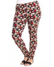 Women - Floral Print Cotton Legging (Plus)