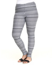 Women - Tribal Cotton Legging (Plus)