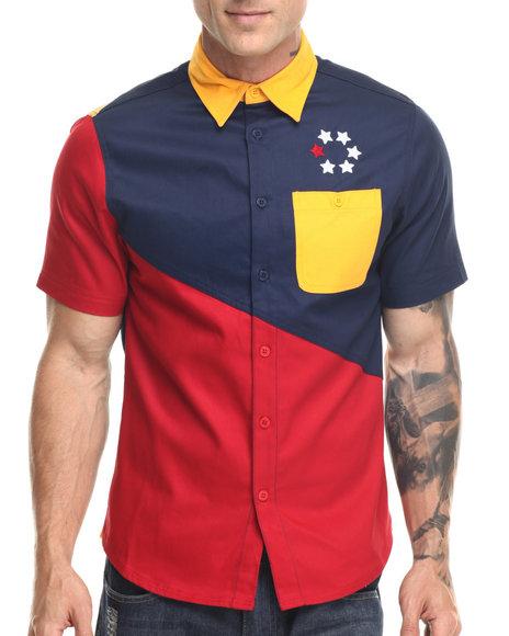 Ur-ID 219377 Born Fly - Men Navy Alvarez S/S Button-Down