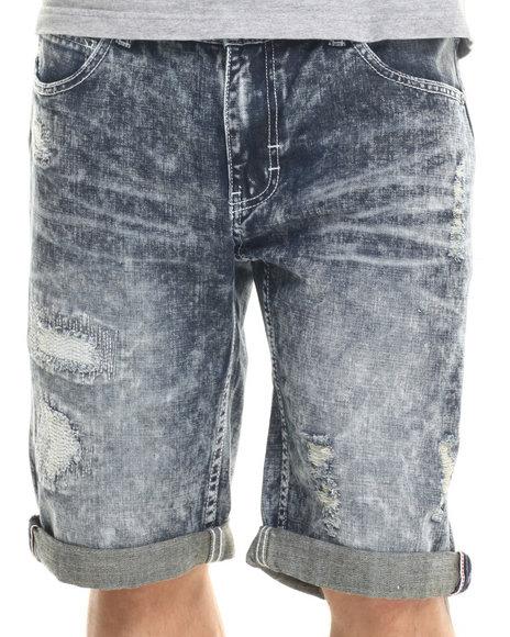 Ur-ID 219380 Born Fly - Men Light Wash Hamlin Denim Shorts