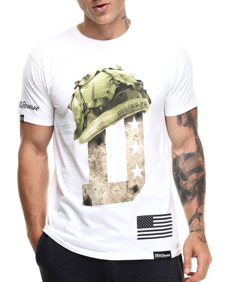 Ur-ID 219401 DNINE Reserve - Men White Full Metal Jacket Tee