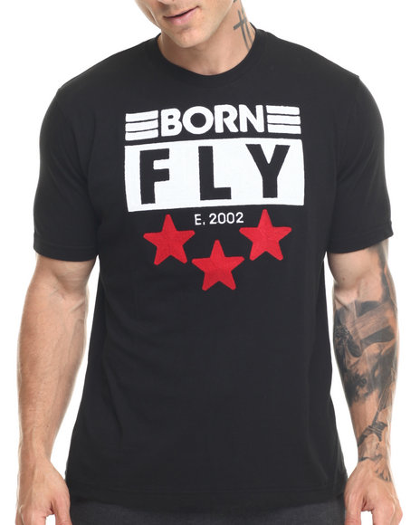 Ur-ID 219422 Born Fly - Men Black Pierre Tee