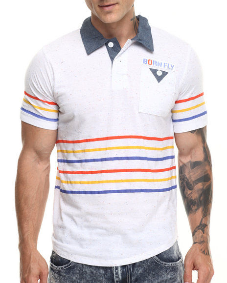 Ur-ID 219431 Born Fly - Men White Bearden Polo