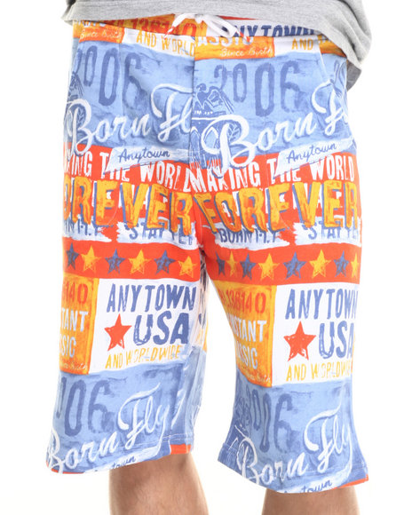 Ur-ID 223284 Born Fly - Men Orange Arman Shorts