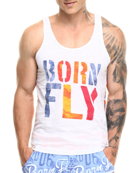 Ur-ID 219397 Born Fly - Men Orange,White Avery Tank