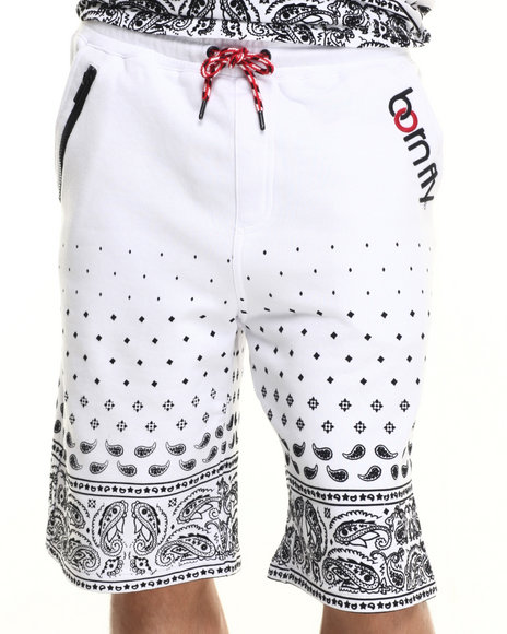 Born Fly - Men White Balletto Shorts - $34.99