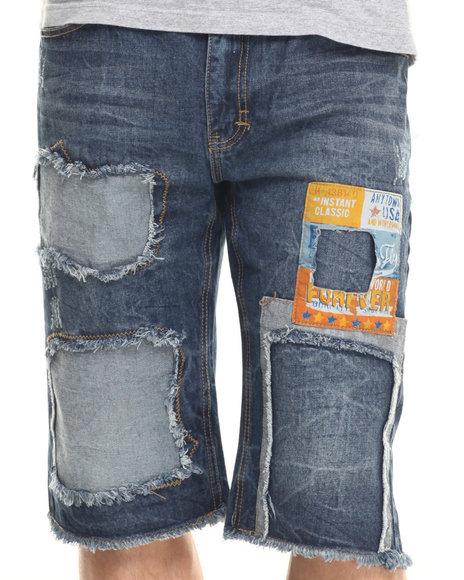 Ur-ID 219382 Born Fly - Men Medium Wash Braque Denim Shorts