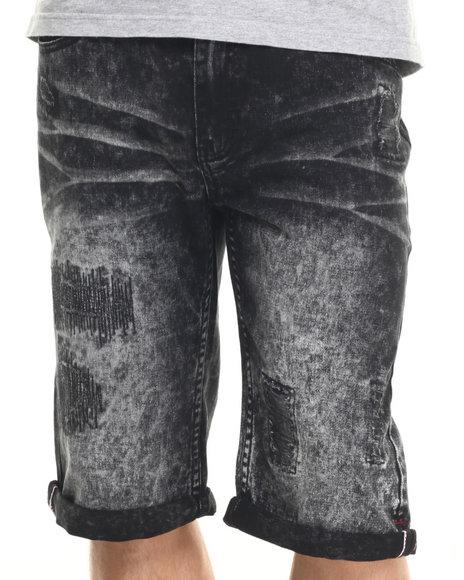 Ur-ID 219384 Born Fly - Men Black Hamlin Denim Shorts