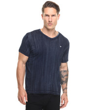 True Religion - Indigo Brushed V-Neck Tee