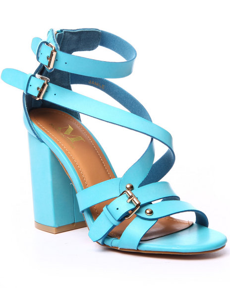 Ur-ID 219445 Fashion Lab - Women Blue Chunky Heel Sandal